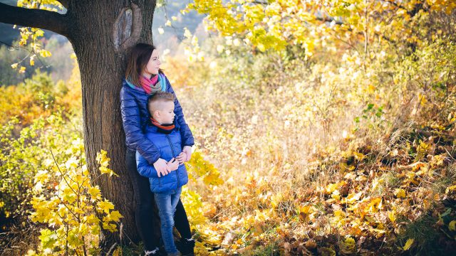Mama, ja i złota jesień... / Sesja fotograficzna z dzieckiem / Gdańsk